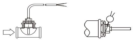 Монтаж теплосчетчика ELF  Ду 15 (термодатчики)