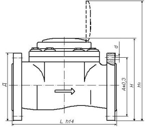 Счетчик воды СТВХ-65 ДГ